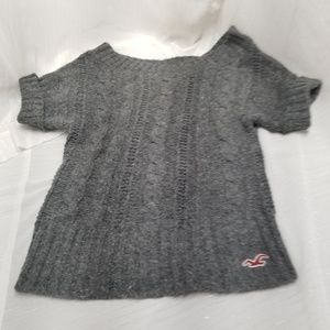 Hollister Women's Gray Short Sleeve Sweater Sz S